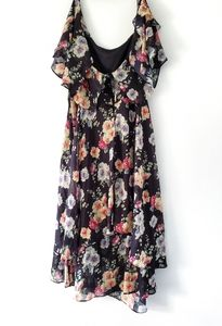 ASOS Curve Floral Black Dress